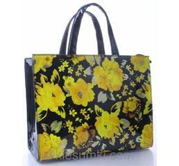 Сумка женская Bonilarti - Balina черная с желтыми цветами