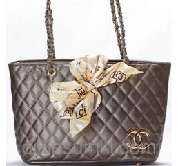 Женская сумка CHANEL  бронзового цвета
