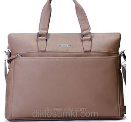 Чоловіча сумка портфель Kabinias шкіра  сіро - коричневий