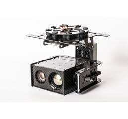 Трехосевой гиростабилизиваронный подвес с тепловизором и дневной камерой для коптеров