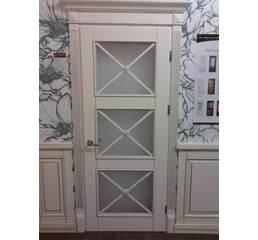 Міжкімнатні дерев'яні двері (три віконця)