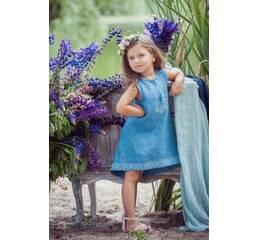 Платье детское из натуральной ткани Модель ДП03-273