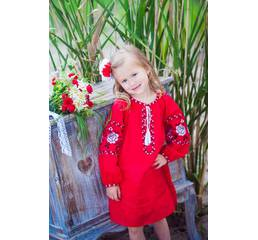 Платье детское из натуральной ткани Модель ДП11-261