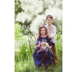 Платье детское из натуральной ткани Модель ДП10-293