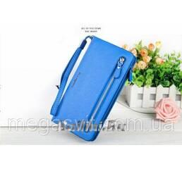 Кошелек Baellerry синий женский (портмоне, клатч) Синий + сережки