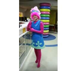 Розочка из троллей, костюм аниматора