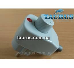 Сірий регулятор на вилці для электроТЭНов без регулювання від 100 до 1000Вт., з індикатором. Диммер Туреччина.