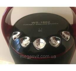 Колонка Bluetooth с светомузыкой WS-1602 (Portable wireless speaker), беспроводной динамик