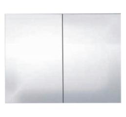 Шкафчик зеркальный Alano, серебряный дуб