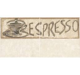 Плитка Декор COMP SAGRA BEIGE 1 COFFE, фриз 2, 10*20 см