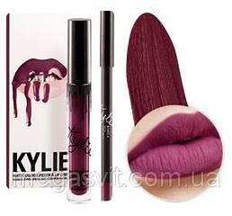Матовая помада + карандаш для губ Kylie Matte Liquid Lipstick & Lip liner KOURT K
