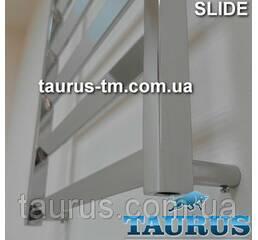 Низкий полотенцесушитель Slide 4/500 мм. для небольшой ванной комнаты. Украина, Смела (TAURUS)