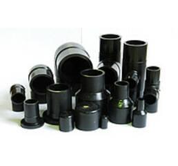 Фасонные части из полиэтилена литые и сегментные для соединения газопроводов и водопроводов.