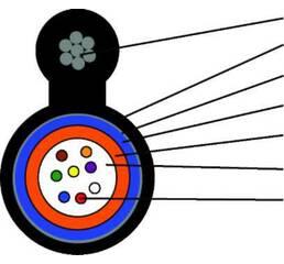 Кабель оптический 8  волокон, с тросом, SM, броня