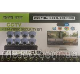 Комплект видеонаблюдения на 8 камер DVR KIT 6508 8ch (Регистратор+ Камеры)