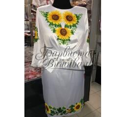 """Вышитое платье """"Подсолнухи"""" ПЛ 012"""