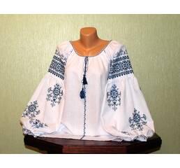Женская рубашка вышитая ручной работы с широким рукавом