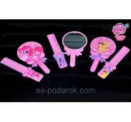 """Набор для девочки Зеркало с расческой """"My Little Pony""""."""