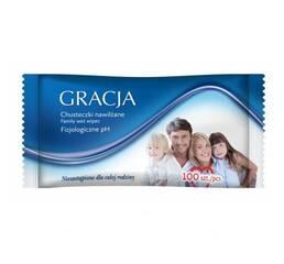 """Вологі серветки для всієї родини """"Gracja"""", 100 шт., Польща"""