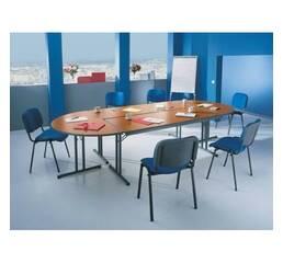 Складные столы для конференц-зала. Внешние габариты конфигурации : 3500 х 1700 х 750 мм. Количество посадочных мест 12.