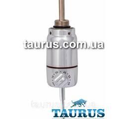 ТЭН Cini GT chrome з регулятором від 5 до 70С, для полотенцесушителя. Поворотний корпус. Підсвічування. Польща, 1/2