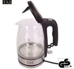 Скляний світлодіодний чайник TAS, 1.5 літра бездротовий 1800W 360 купити у Вінниці