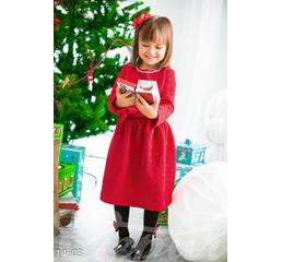 Нарядное детское платье (красный)