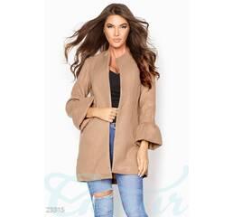 Изысканное кашемировое пальто (песочный)