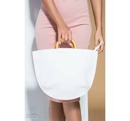 Летняя сумка-полумесяц (белый)