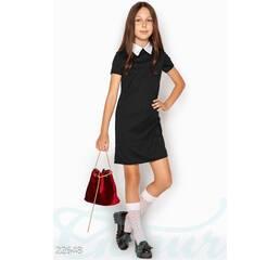 Простое школьное платье (черный)