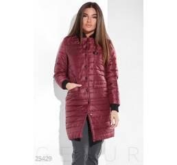 Пальто на синтепоне (марсала)