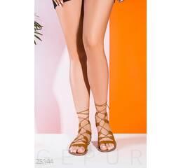 Женские греческие сандалии (коричневый)