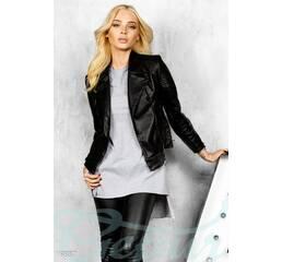 Экокожаная куртка косуха (черный)