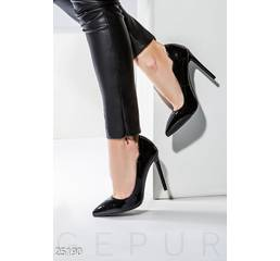 Лаковые туфли-лодочки (черный)