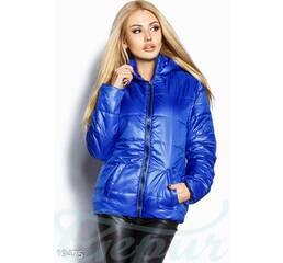 Яркая демисезонная куртка (синий электрик)