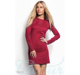 Повседневное трикотажное платье (красный)