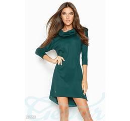 Теплое асимметричное платье (морская волна)