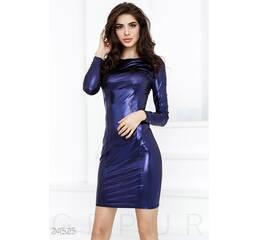 Модное платье ламе (темно-синий)