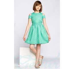 Платье из жаккарда (бирюзовый)