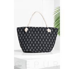 Удобная пляжная сумка (черный)