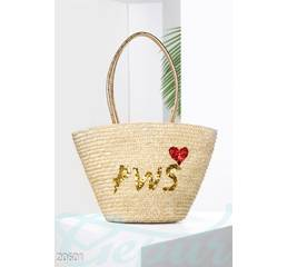 Соломенная сумка PWS (мультиколор)