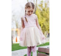 Детское платье-пачка (розово- золотистый)