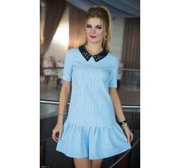 Платье 438201-2 голубой Весна 2018 Украина