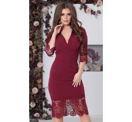 Платье 438043-1 марсала Весна 2018 Украина