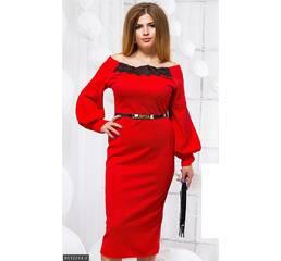 Платье 8512244-2 красный Зима 2017 Украина