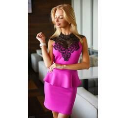 Платье 437375-9 фуксия Осень-Зима 2017 Украина