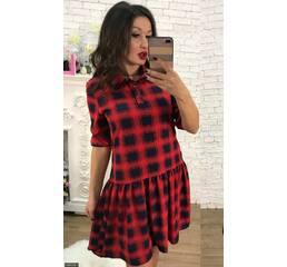 Платье 438368-1 красный Весна 2018 Украина