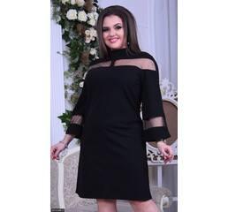 Платье 8512488-2 черный Весна 2018 Украина