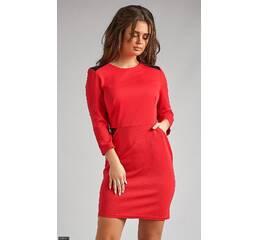 Платье 438287-1 красный Весна-Лето 2018 Украина