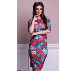 Платье 438367-2 красный Весна 2018 Украина